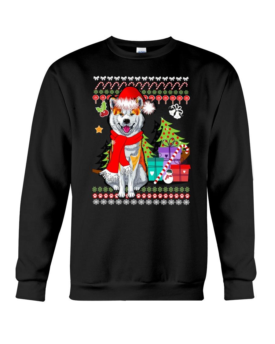 Akita Christmas 0210 Crewneck Sweatshirt