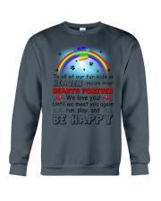 Run Play And Be Happy  Crewneck Sweatshirt thumbnail