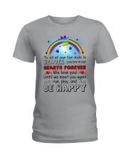 Run Play And Be Happy  Ladies T-Shirt thumbnail