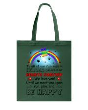 Run Play And Be Happy  Tote Bag thumbnail
