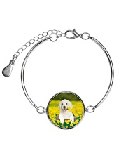 Golden Retriever In Garden 0509 Metallic Circle Bracelet thumbnail