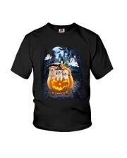 Golden Retriever in pumpkin carriage 0208 Youth T-Shirt thumbnail