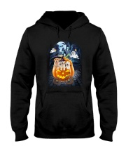 Golden Retriever in pumpkin carriage 0208 Hooded Sweatshirt thumbnail
