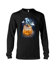 Golden Retriever in pumpkin carriage 0208 Long Sleeve Tee thumbnail