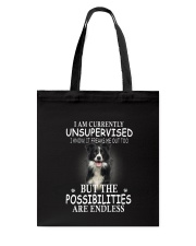 Border Collie Unsupervised 1503 Tote Bag thumbnail