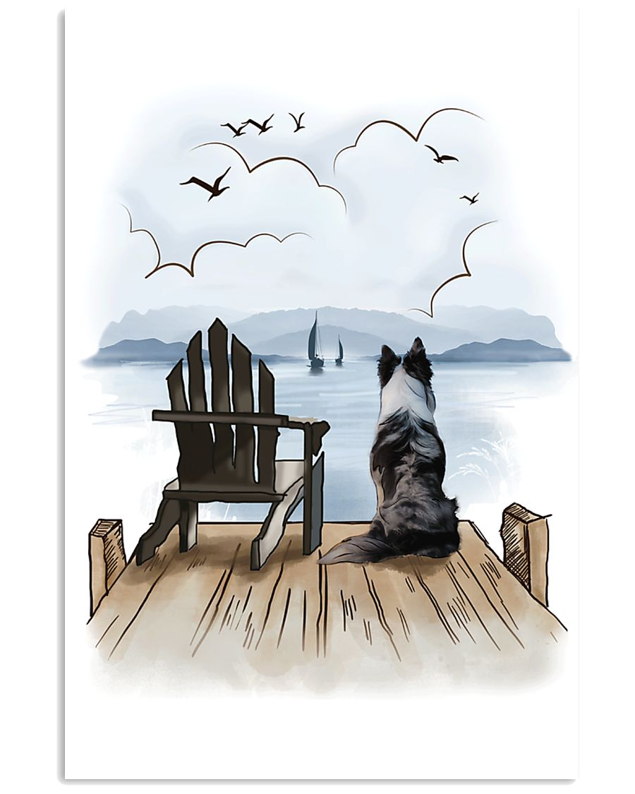 Border Collie Waiting 11x17 Poster