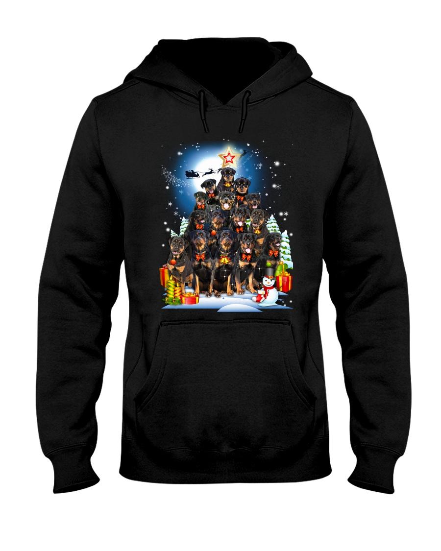 Rottweiler Pine 190918 Hooded Sweatshirt