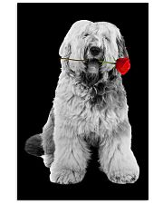 Old English Sheepdog Rose Poster 3001  11x17 Poster front