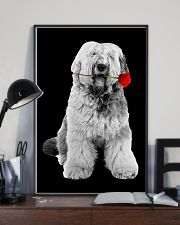 Old English Sheepdog Rose Poster 3001  11x17 Poster lifestyle-poster-2