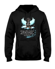 Dachshund angel 1610 Hooded Sweatshirt front