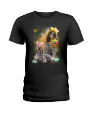 Wirehaired Pointing Griffon Happy Easter Day 2601  Ladies T-Shirt thumbnail