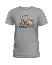 American Staffordshire Antidepressants 1712 Ladies T-Shirt thumbnail