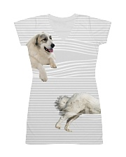Great Pyrenees stripped All-over Dress thumbnail