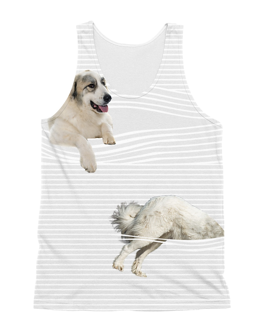 Great Pyrenees stripped All-over Unisex Tank