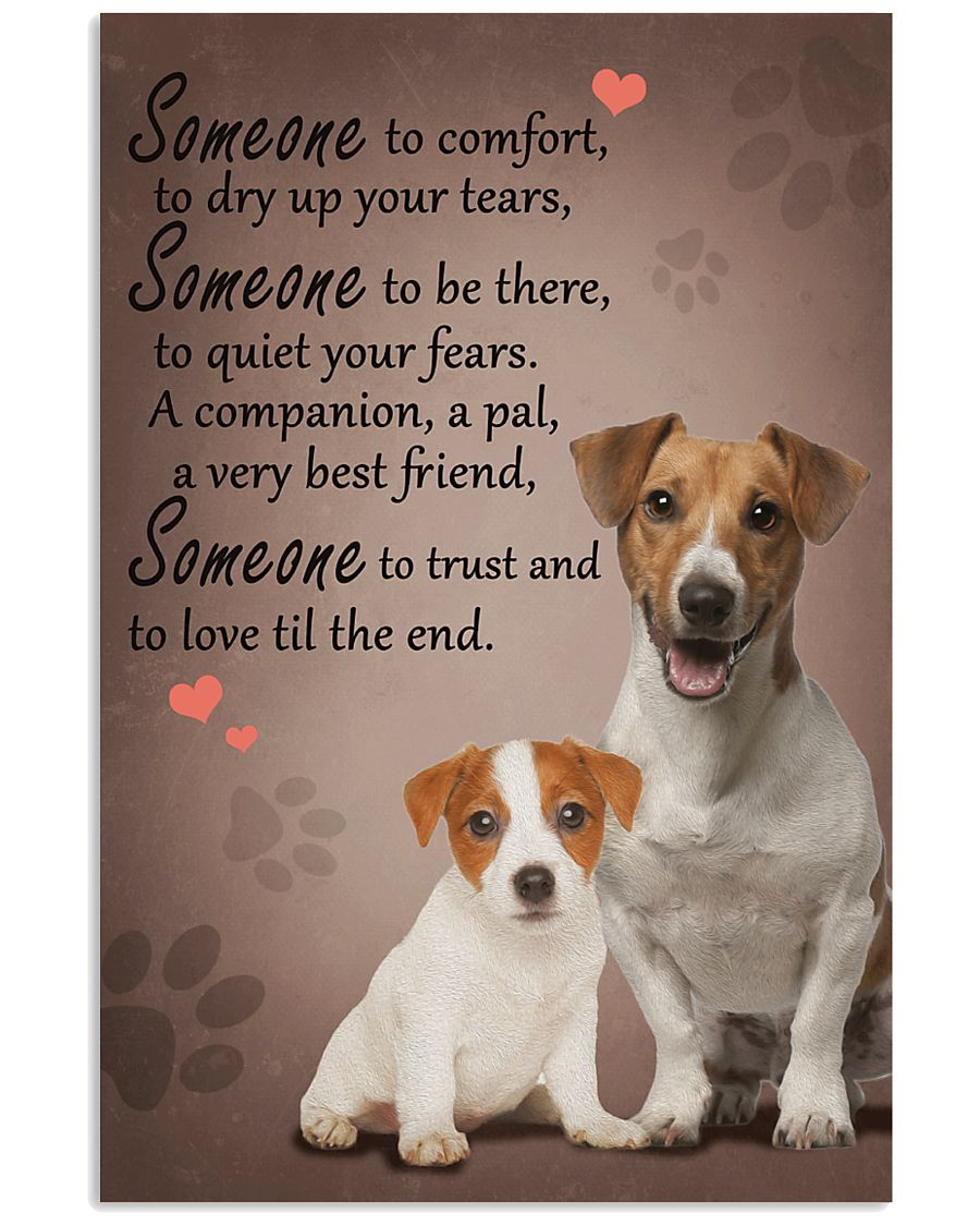 Jack-Russell-Terrier someone to comfort 11x17 Poster