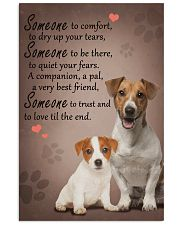Jack-Russell-Terrier someone to comfort 11x17 Poster front