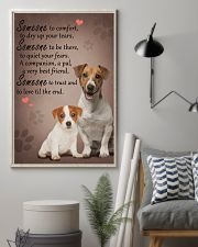 Jack-Russell-Terrier someone to comfort 11x17 Poster lifestyle-poster-1