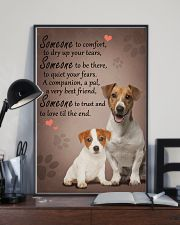 Jack-Russell-Terrier someone to comfort 11x17 Poster lifestyle-poster-2