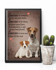 Jack-Russell-Terrier someone to comfort 11x17 Poster lifestyle-poster-8