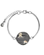 Labrador Retriever Striped  Metallic Circle Bracelet thumbnail