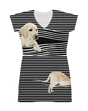 Labrador Retriever Striped  All-over Dress thumbnail