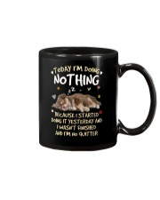 Chihuahua Today doing nothing 0708 Mug tile