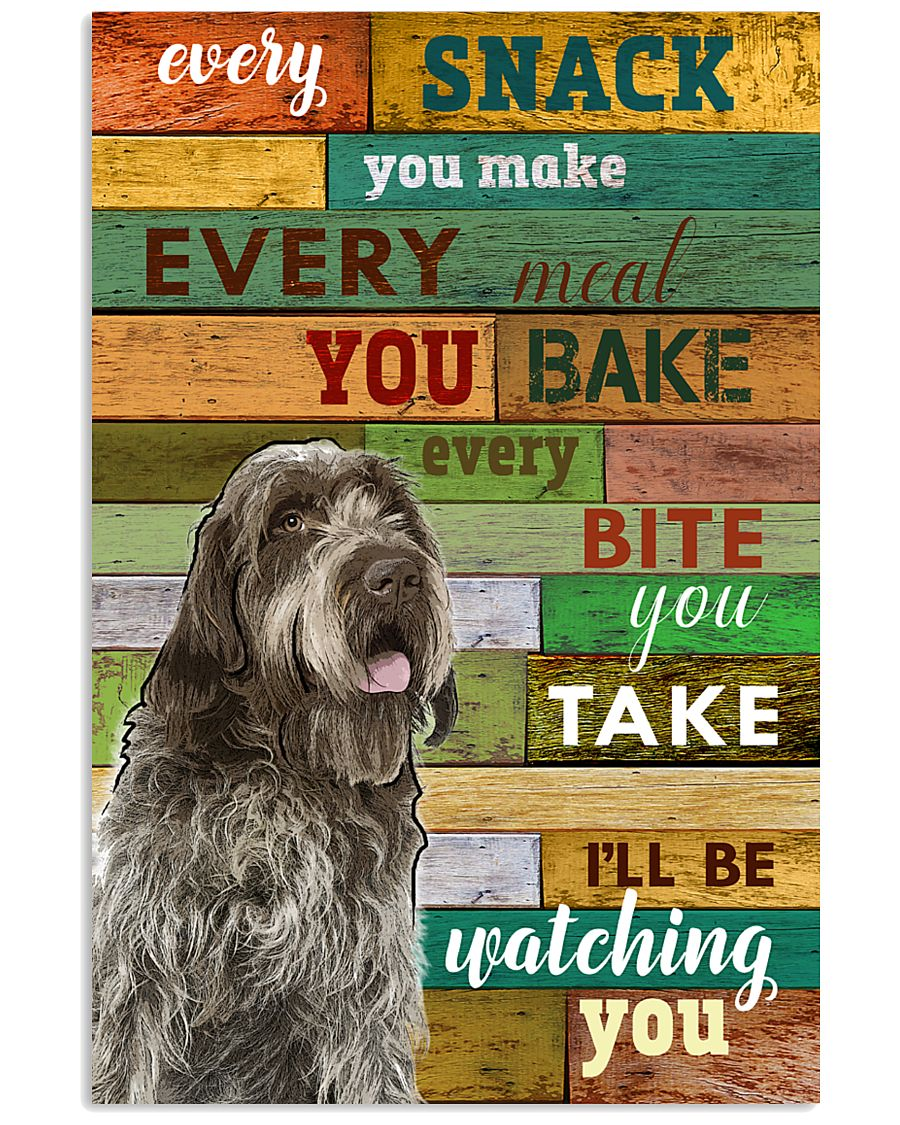 Wirehaired Pointing Griffon Watching Poster 1601  11x17 Poster