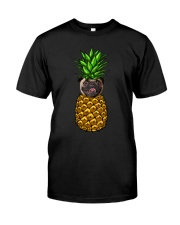 Pug Pineapple  Classic T-Shirt front