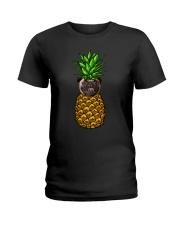 Pug Pineapple  Ladies T-Shirt thumbnail