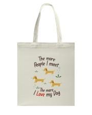 The More I Love My Dog Tote Bag thumbnail