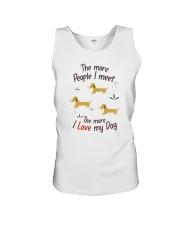 The More I Love My Dog Unisex Tank thumbnail