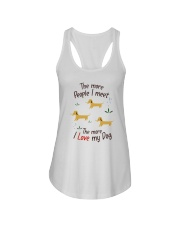 The More I Love My Dog Ladies Flowy Tank thumbnail