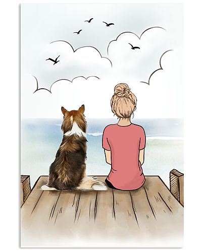 Collie and Girl Poster 1212