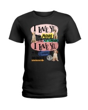 Labrador Retriever I love you in the morning  Ladies T-Shirt thumbnail