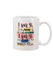 Labrador Retriever I love you in the morning  Mug front