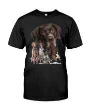 German Shorthaired Pointer Awesome Family 0701 Classic T-Shirt front