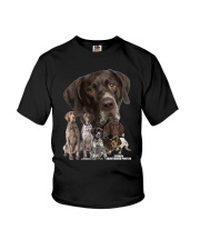 German Shorthaired Pointer Awesome Family 0701 Youth T-Shirt thumbnail