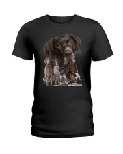 German Shorthaired Pointer Awesome Family 0701 Ladies T-Shirt thumbnail