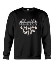 Collie Crazy Lady 3101 Crewneck Sweatshirt thumbnail