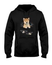 Shiba Inu Scratch Hooded Sweatshirt thumbnail