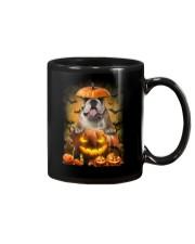 Bulldog And Pumpkin Mug thumbnail