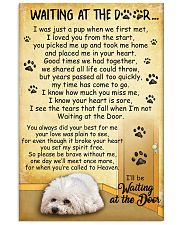 Bichon Frise Waiting At The Door Poster 2301 11x17 Poster front
