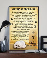 Bichon Frise Waiting At The Door Poster 2301 11x17 Poster lifestyle-poster-2