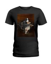 Bernese Mountain Dog Believe Ladies T-Shirt thumbnail