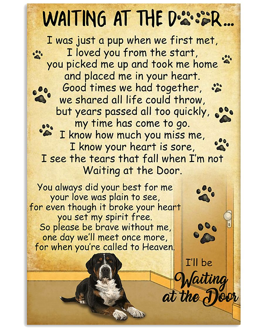 Greater Swiss Mountain Dog Waiting at The Door 11x17 Poster