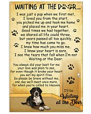 Greater Swiss Mountain Dog Waiting at The Door 11x17 Poster front