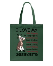 Chinese Crested Bed Hogging 3001 Tote Bag thumbnail
