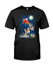 Dog And Santa Reindeer 0410 Classic T-Shirt thumbnail