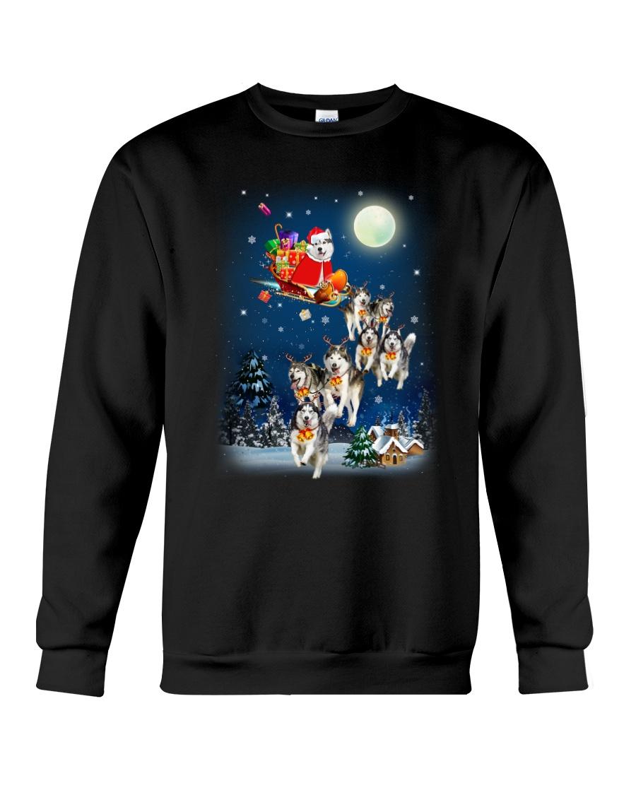 Dog And Santa Reindeer 0410 Crewneck Sweatshirt