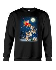 Dog And Santa Reindeer 0410 Crewneck Sweatshirt front